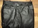 Pantaloni piele clasici JCC pentru strada,rock, moto