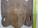 Statueta-masca din lemn masiv exotic