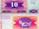 Lot 6 bancnote BOSNIA HERTEGOVINA 1992 - UNC