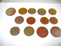 6640-Set 11 Monede bronz vechi majoritatea Austria uzate.