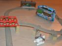 Set Thomas trenulet Toby nou,sine cu pod,o gara si Elicopter