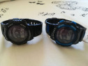 Ceasuri barbatesti sport rezistente la apa negru/albastru