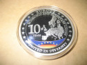 A181-UNC-Medalia 10 ani Europa unita 2011 Reichstag medalion