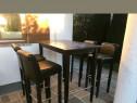 Masa înaltă cu 4 scaune
