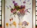 Tablou pictat manual pe panza in ulei Vaza cu Flori A-064