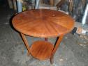Masa rotunda din lemn masiv