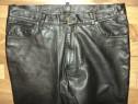 Pantaloni model clasic din piele naturala moale,marimea 34,M