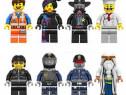 Set 8 Minifigurine noi tip Lego Movie cu Emmet si Vitruvius
