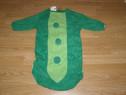 Costum serbare bob de mazare pentru copii de 1-2 ani