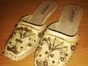 Papucei piele facuti manual