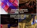 Ghirlande luminoase primarii Craciun,perdele,iluminat festiv