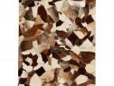 Covor piele naturală, mozaic, 132618