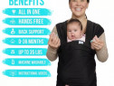 Marsupiu Port Bebe Lil One Baby Gear 95% Bumbac Organic