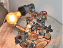 Lampa om moto steampunkdesigncj, lampa steampunk