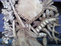 Panoplii sculptate de cerb si caprior