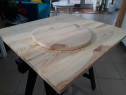 Blat masa 30 mm grosime, 450 mm diametru din lemn masiv de p