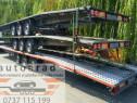 Inchiriez trailer dublu platforma transport 2 masini remorca