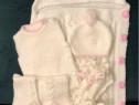 Set tricotat manual pentru fetita