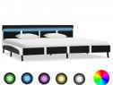 Cadru de pat cu LED, negru, 180 x 200 cm 280306