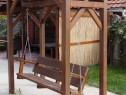 Balansoar de grădină din lemn masiv