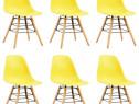 Scaune de bucătărie, 6 buc., galben, plastic 248270