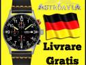 Ceas German Astroavia Pilot Aviatie Bratara Piele Mecanism