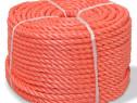 Frânghie împletită polipropilenă, portocaliu 143839