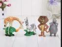Set 4 figurine Madagascar: Alex/Gloria/Marti/Melman