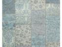 Covor Modern Patchwork Chenille Acril Turcoaz 120x170
