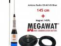 Antena Statie Radio CB Megawat ML145 Blue cu Magnet Megawat