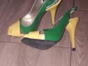 Sandale piele lacuita