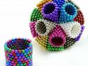 Neocube 216 bile magnetice 5mm, multicolor, 6 culori