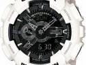 Ceas sport Casio g-shock ga-110 Black&White poze reale alb
