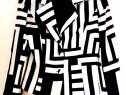 Sacou alb cu negru 36