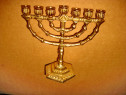 B819-Sfesnic Menora mic 7 brate bronz masiv marimi: 11/ 11cm