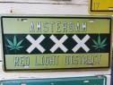 Placuta de metal Amsterdam, gen numar auto, vintage.