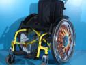 Carucior scaun invalizi cu rotile semiactiv din aluminiu Sop