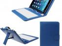 Husa Tableta 7 Inch Cu Tastatura Model X, Albastru C105