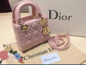 Geantă Dior Lady new model(mini),etichetă,saculet inclus