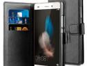 Husa Telefon Wallet book Huawei P8 black BeHello PRODUS NOU