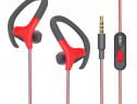 Casti Audio MRG L-D09, Cu cablu, Stereo, Rosu/Gri C445