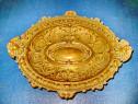 B973-Fructiera mica stil Renastere bronz masiv aurit origin.