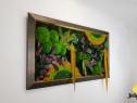 Tablou licheni Jolie Arts, Model Curcubeu cu Galben