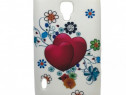 Husa Telefon Silicon LG Optimus L7 II hearts white