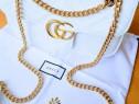Geantă Gucci Marmont logo metalic auriu import Italia