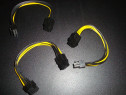 Cablu adaptor placa video pci-e 6 pini la pcie 8 pini