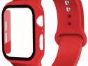 Curea Ceas + Husa cu Geam Apple Watch Seria 1 2 3 4 5 6 SE
