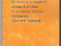 Dictionar de cuvinte si expresii latinesti si eline in conte