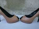 Pantofi dama din piele cu toc, marimea 39, marca Shoe Art
