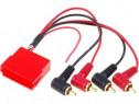 Adaptor mufa amplificare Audi VW mini ISO la 2 sau 4 mufe RC